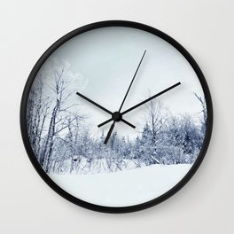 Freezing trees in a winterland decor Wall Clock