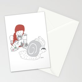 Run snail, RUN ! Stationery Cards