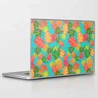 pineapples Laptop & iPad Skins featuring Pineapples by Laura Barnes