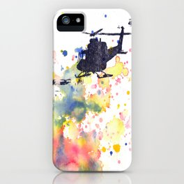 Helicopter Flying into Color iPhone Case