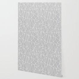 Geometric Cobweb (White & Gray Pattern) Wallpaper