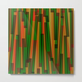 Geometric Orange Green Yellow Painting Metal Print