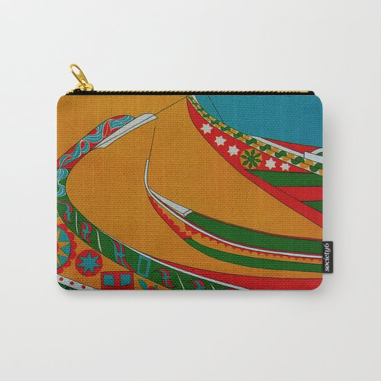 Portuguese Fishing Boats - Vintage Travel Carry-All Pouch