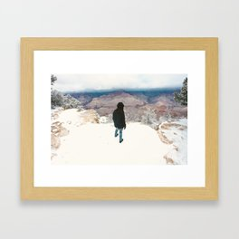 They won't see us waving from such great heights Framed Art Print