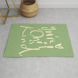 You are special motivational typography Rug