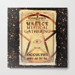 Magick Mystic Gathering Metal Print