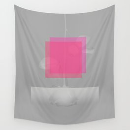 Pink Structural Disorder Wall Tapestry