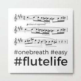 #flutelife #easy Metal Print