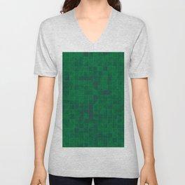 Green Tiles Unisex V-Neck