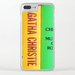 Rainbow Agatha Murder Books Clear iPhone Case