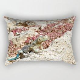 Blue Whiptail Lizard Rectangular Pillow