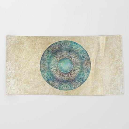 Moon Mandala Beach Towel