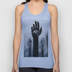 Hands & Eyes #Abstract Unisex Tank Top