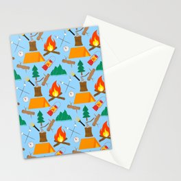 Let's Explore The Great Outdoors - Light Blue Stationery Cards