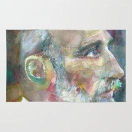 PIERRE CURIE - watercolor portrait Rug