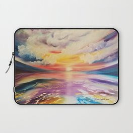Be a Rainbow, Colorful Sunset, Beach Sunset, Beautiful Sunset Laptop Sleeve