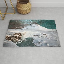 Iceland Night Kirkjufell Arrowhead mountain Rug