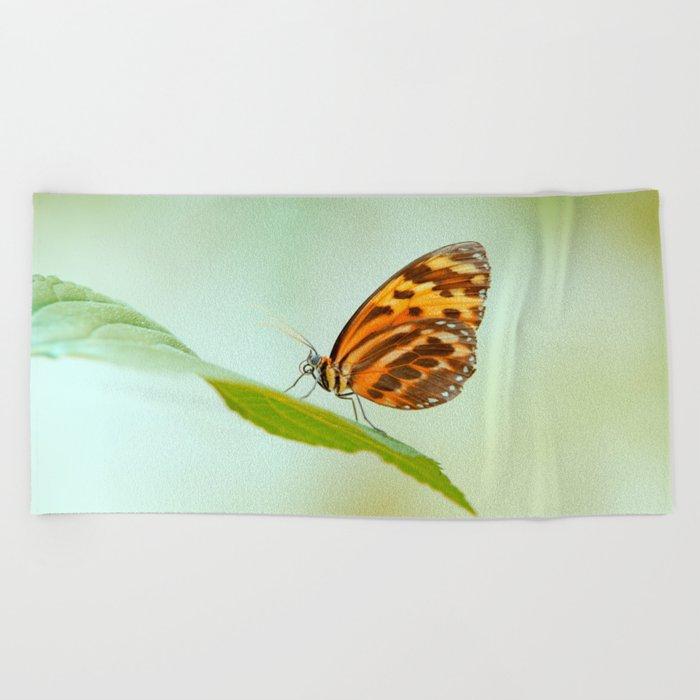 Butterfly pattern nature Love Beach Towel