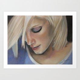 Forever a wallflower Art Print