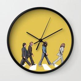 Yellow Abbey Road Wall Clock