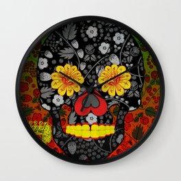 Russian Sugar Skull Wall Clock