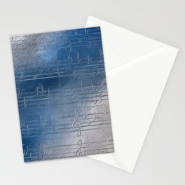 Silver music Stationery Cards