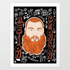 Action Bronson Portrait Art Print