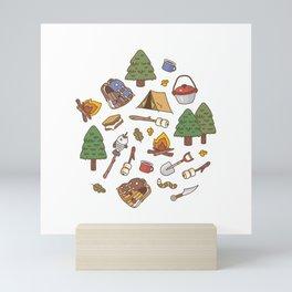 Summer Camp Pattern  Mini Art Print