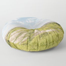 Badlands Prairie - Nature Landscape Photography Floor Pillow