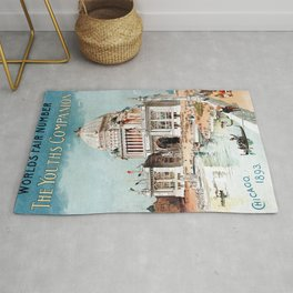 Vintage 1893 Chicago World's fair expo Rug