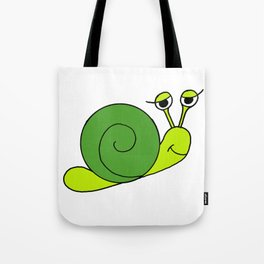 Snail Funny Friendly Design Print Tote Bag