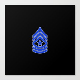 Sergeant Major (Police) Canvas Print
