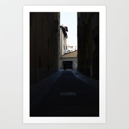 man in the square Art Print