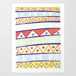 Aztec Print Art Print