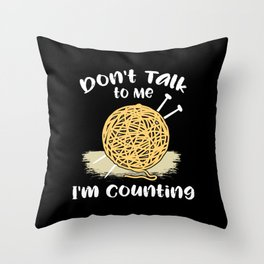 Crochet - I'm Counting Throw Pillow