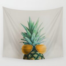 Pineapple In Paradise No. 2 Wall Tapestry