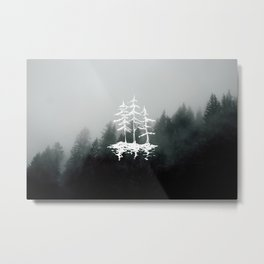 Foggy Forest Landscape #wanderlust Metal Print