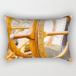 At the Helm Rectangular Pillow