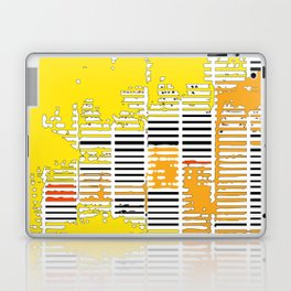 Shadows Through Shutters - yellow Laptop & iPad Skin
