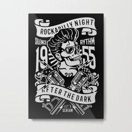 rockabully night Metal Print