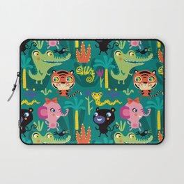 Jungle Animals Kids Animal Safari Pattern Laptop Sleeve
