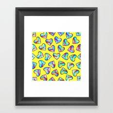 Hearts of glass II Framed Art Print