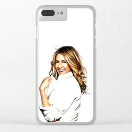 Jennifer Aniston - Celebrity Art Clear iPhone Case