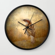 The little brown sparrow Wall Clock