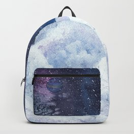 castle in the galaxy painting Backpack