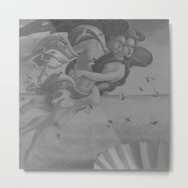 Black White Angels Metal Print