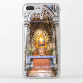 Saint Padre Pio St Stephens Cathedral Vienna Clear iPhone Case