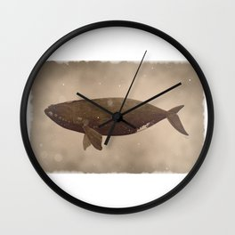 Vintage northern right whale Wall Clock