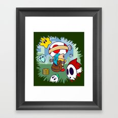 Treasure Tracked: Captain Toad's Fortune (Alt Version: No Text) Framed Art Print