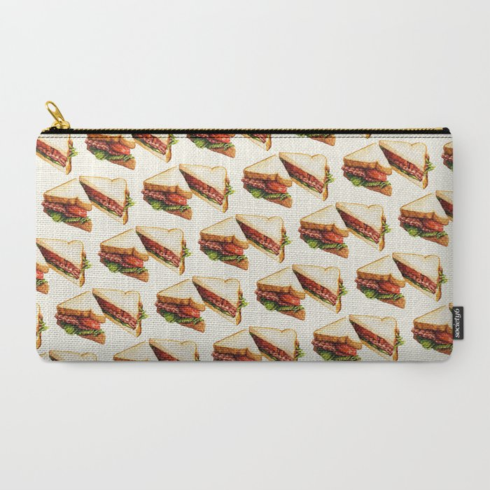Sandwich Pattern BLT Carry-All Pouch
